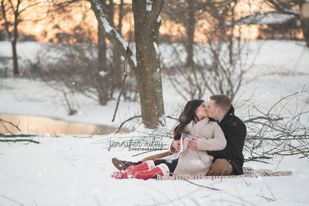 Snow Maternity Photo Session
